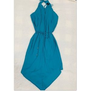 Mossimo asymmetric teal dress